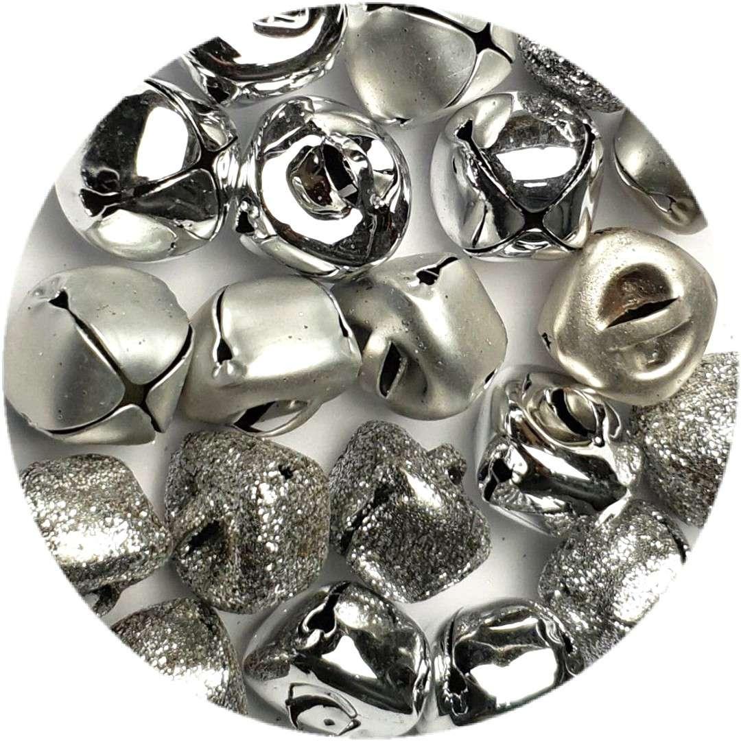 Dzwoneczki dekoracyjne Classic srebrne Aliga 15 mm 20 szt