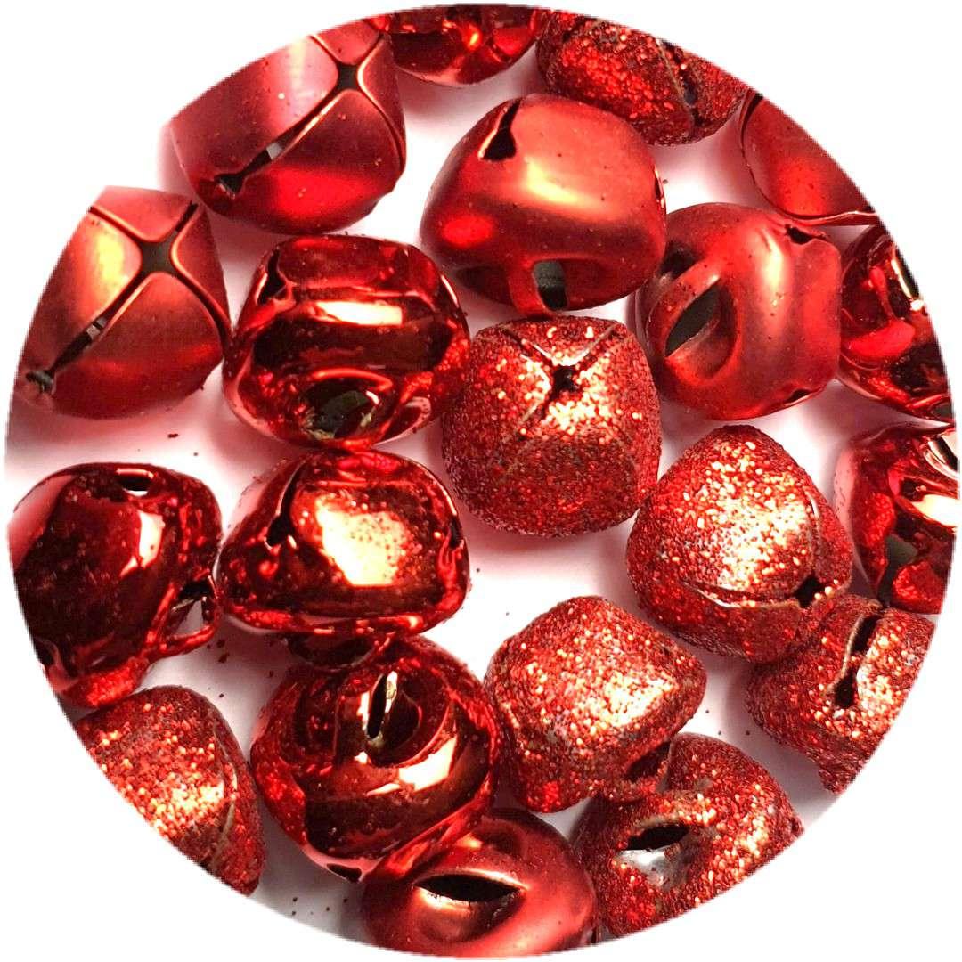 """Dzwoneczki dekoracyjne """"Classic"""", czerwone, Aliga, 15 mm, 20 szt"""