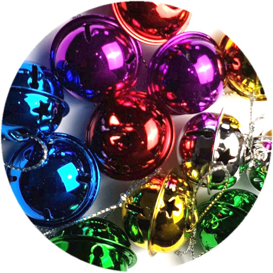 Dzwoneczki dekoracyjne Kulki mix Aliga 30 mm 12 szt