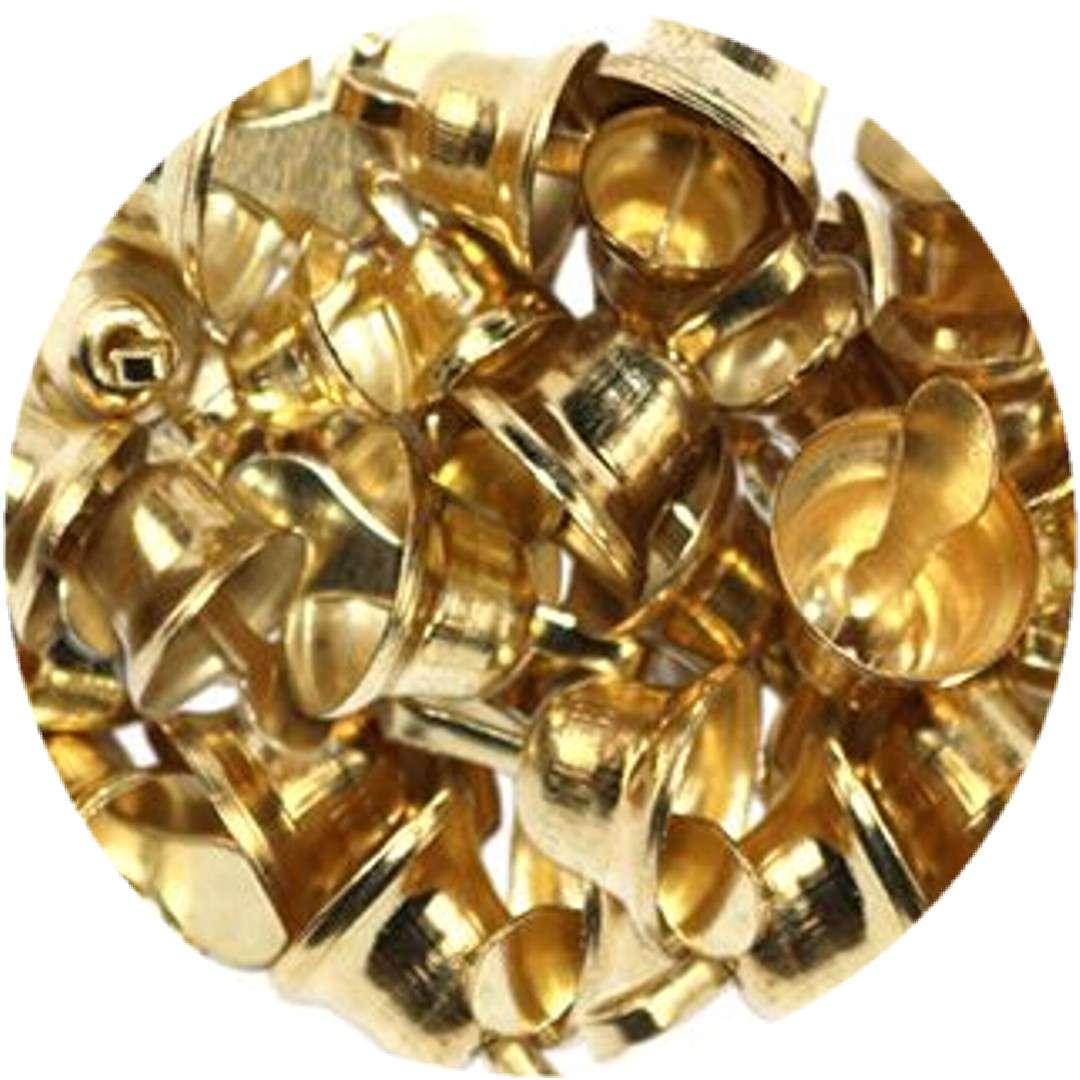"""Dzwoneczki dekoracyjne """"Świąteczne"""", złote, Titanum, 30 szt"""