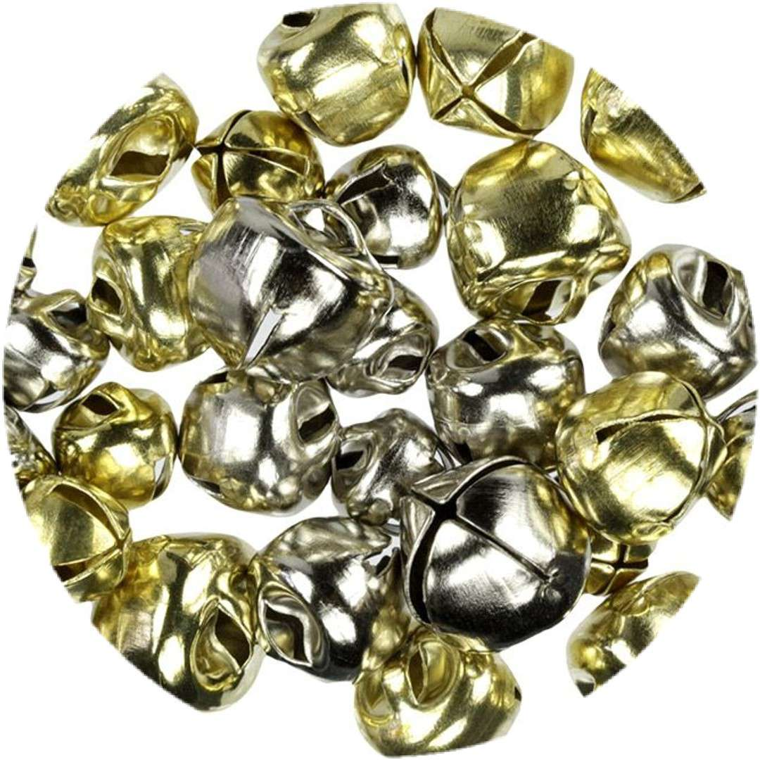 """Dzwoneczki dekoracyjne """"Classic"""", złoto-srebrne, Titanum, 30 szt"""