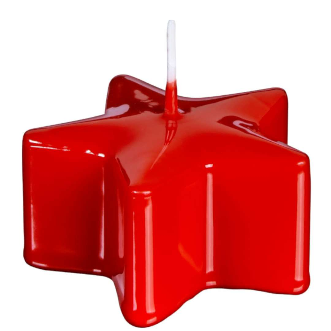 """Świeca """"Świąteczna Gwiazda"""", czerwona, Bolsius, 40 mm"""