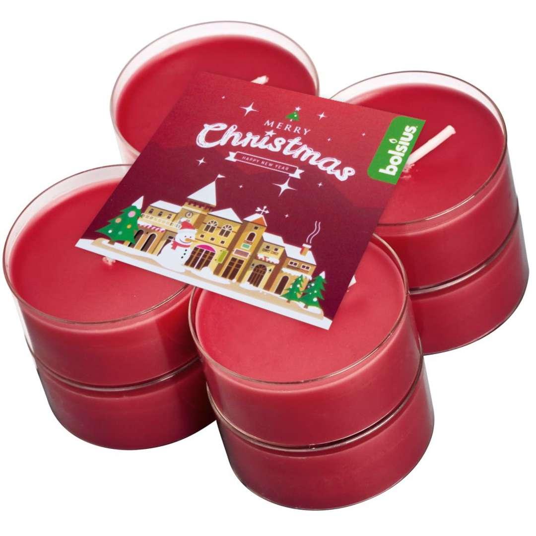 Podgrzewacz zapachowy Merry Christmas - Wiśnia Bolsius 8h 8 szt