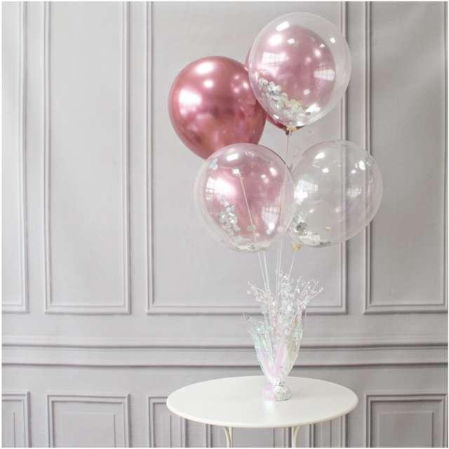 Obciążnik do balonów 2w1 - ze stojakiem opalizujący Partypal