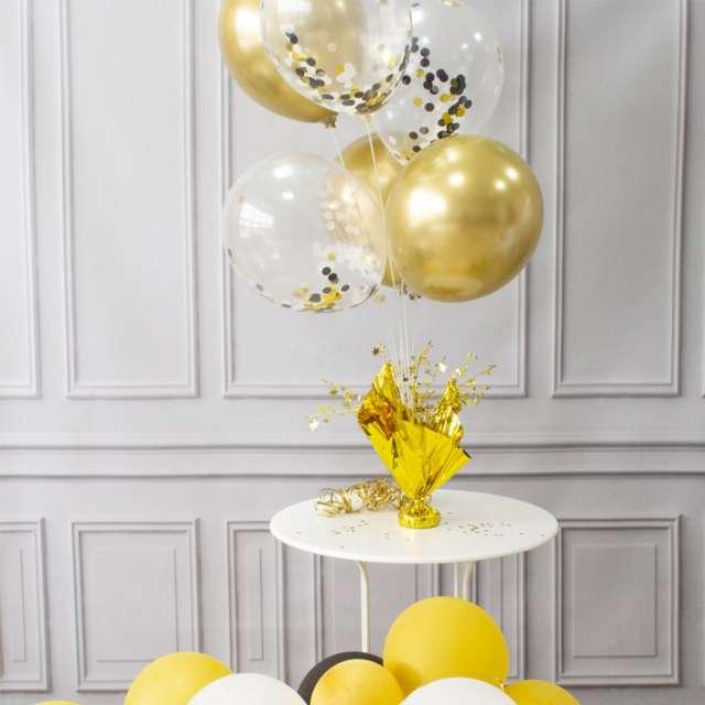 Obciążnik do balonów 2w1 - ze stojakiem złoty Partypal