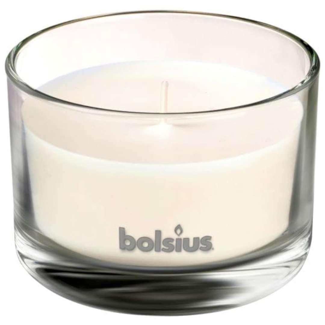 """Świeca zapachowa w szkle """"T.M. Róża i bursztyn"""", Bolsius, 63/90 mm"""