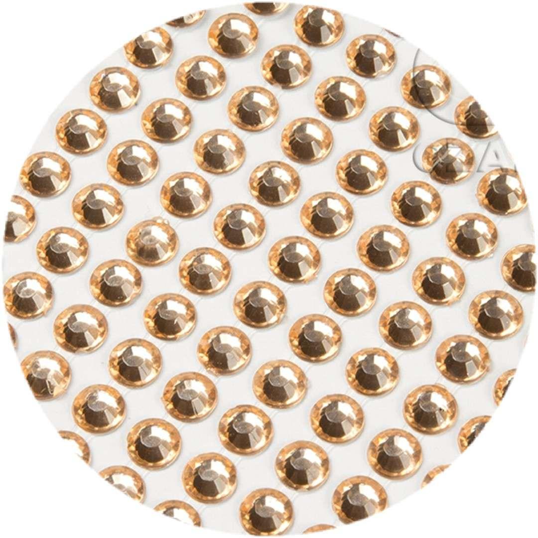 """Dżety samoprzylepne """"Kryształki"""", brzoskwiniowe, 3 mm, 750 szt"""