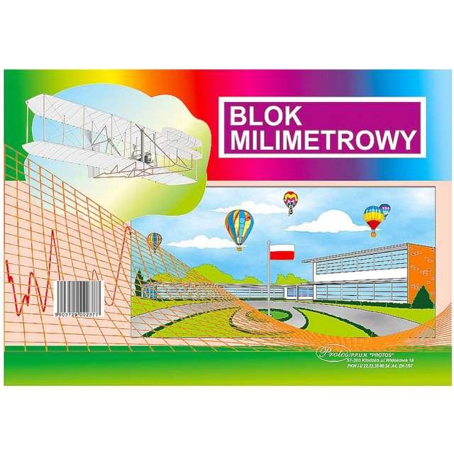 "Blok milimetrowy ""Classic A4"", Protos, 20 kart."