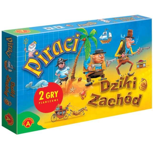 """Gra planszowa """"2w1 - Piraci i Dziki Zachód"""", Alexander, od 4 lat"""