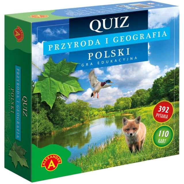 """Gra edukacyjna """"Quiz przyroda i geografia Polski"""", Alexander, od 10 lat"""