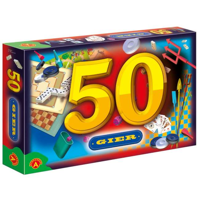 """Gra zręcznościowa """"Mix 50 gier"""", Alexander, od 5 lat, zestaw"""