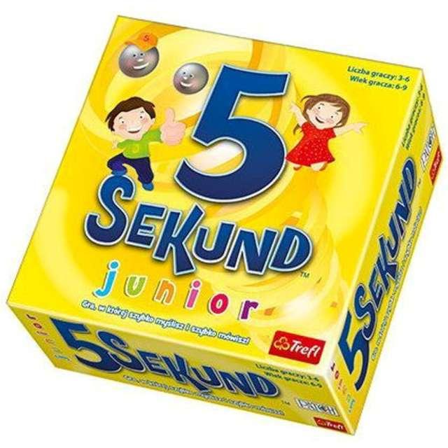 """Gra planszowa """"5 sekund Junior"""", Trefl, 6- 9 lat"""