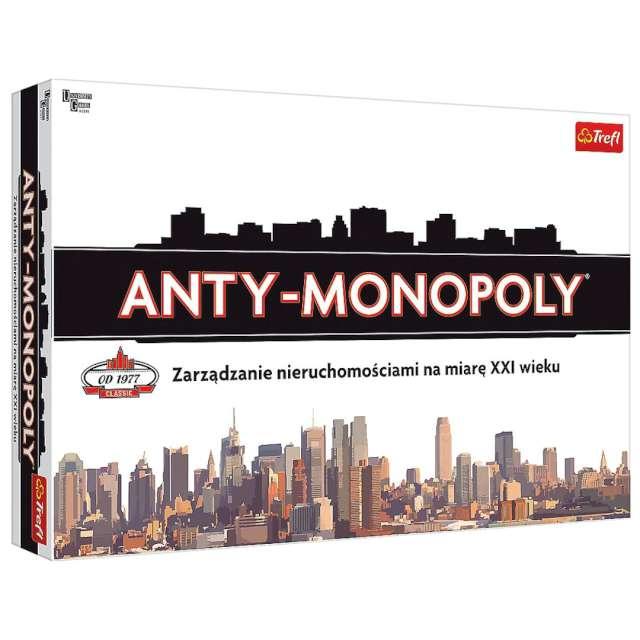 """Gra planszowa """"Anty-Monopoly"""", Trefl, od 8 lat"""
