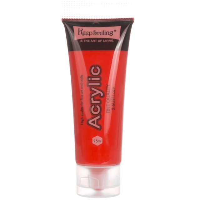 Farba akrylowa Fine Quality czerwona KeepSmilling 75ml