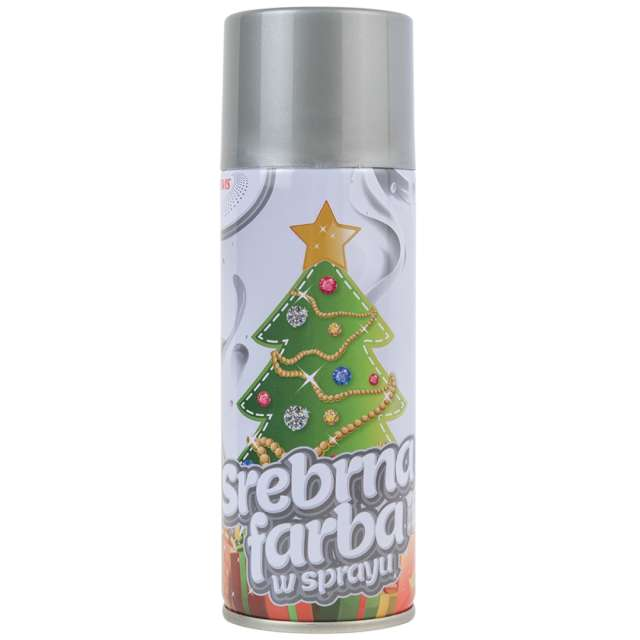 "Farba w sprayu ""Classic"", Brewis, srebrna, 250 ml"