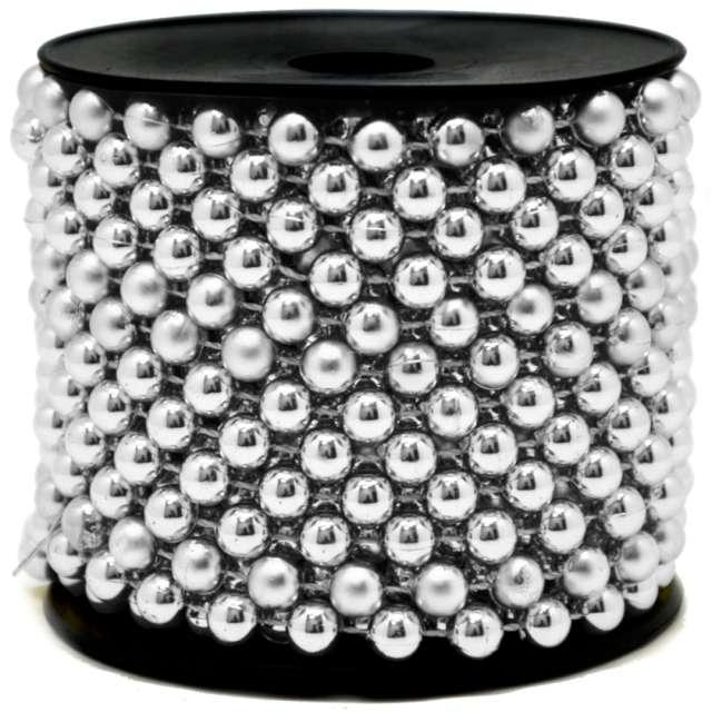 Łańcuch choinkowy Korale na szpuli srebrny 8 mm Czakos 1000 cm