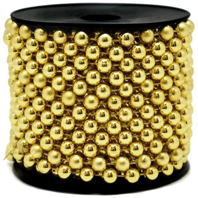 Łańcuch choinkowy Korale złoty 8 mm Czakos 1000 cm