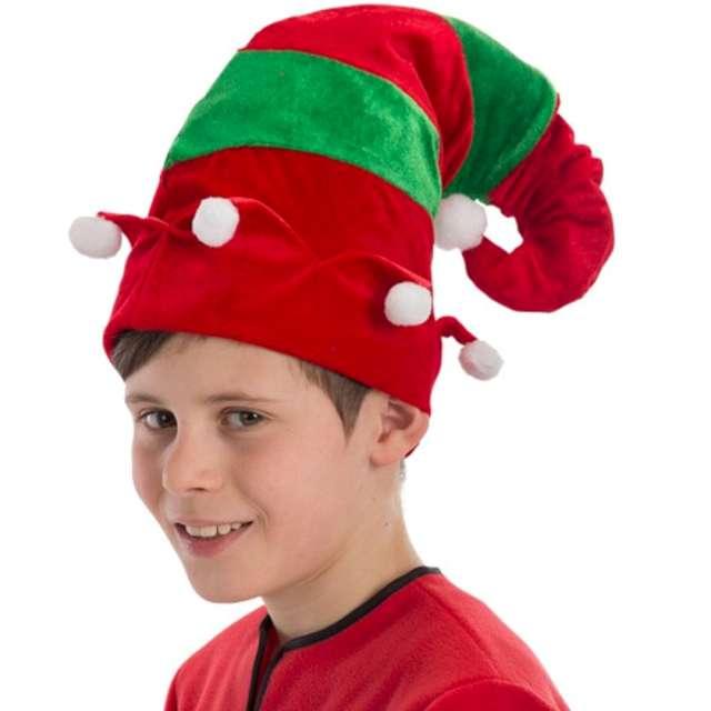"""Czapka """"Elf z pomponami"""", Carnival Toys"""