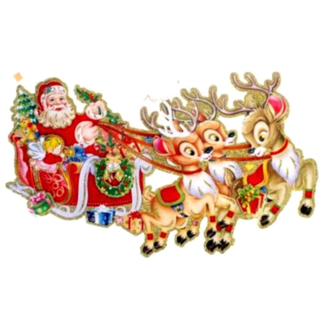 """Dekoracja wisząca """"Mikołaj w saniach"""", dwustronna, Arpex"""