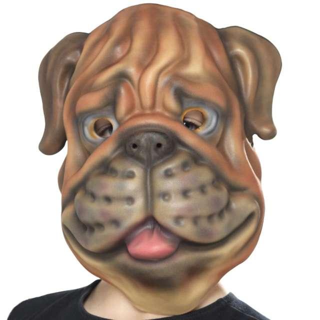 """Maska """"Pies"""", piankowa, brązowa, Smiffis"""