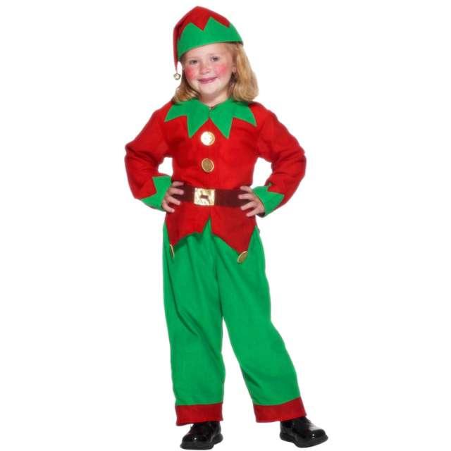 Strój dla dzieci Elf czerwono-zielony Smiffys rozm. M
