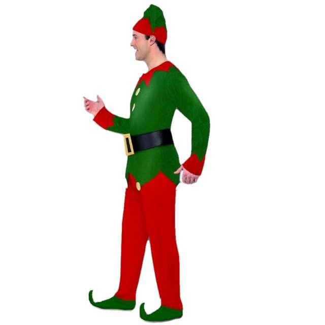 Strój dla dorosłych Elf zielono-czerwony Smiffys rozm. M