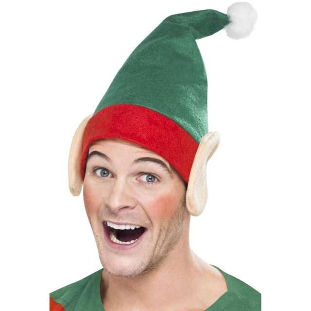 """Czapka """"Elf z uszami"""", zielona, Smiffys"""