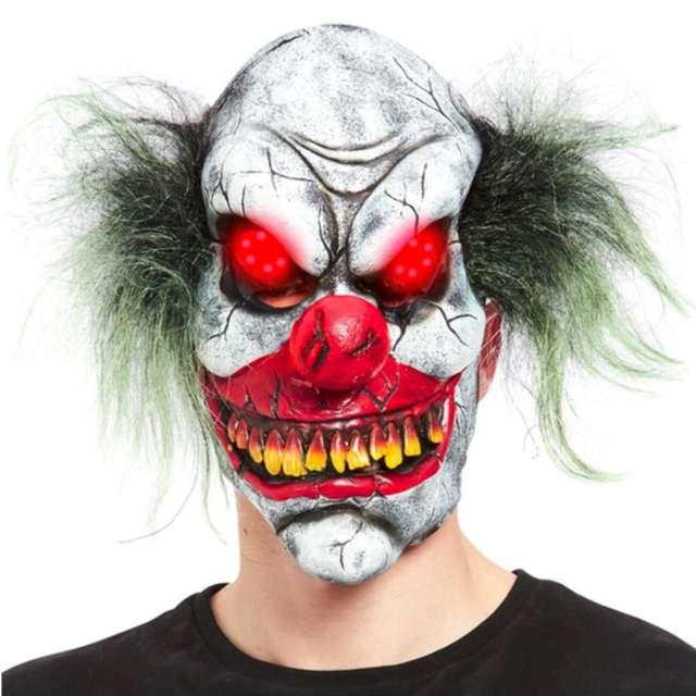 """Maska """"Klaun z czerwonymi oczami"""", lateksowa, Smiffis"""