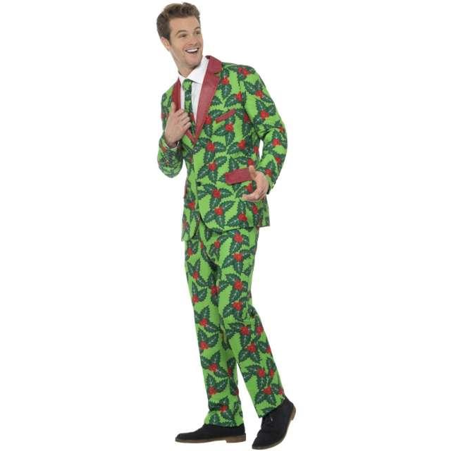 Strój dla dorosłych Garnitur świąteczny w ostrokrzewy zielony Smiffys rozm. M
