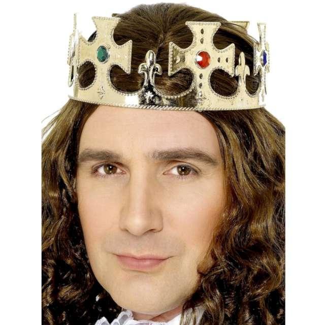 Korona party Królewska złota plastikowa Smiffys