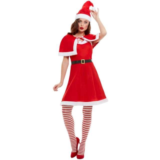 """Strój dla dorosłych """"Pani Mikołajowa"""", czerwony, Smiffys, rozm. XS"""