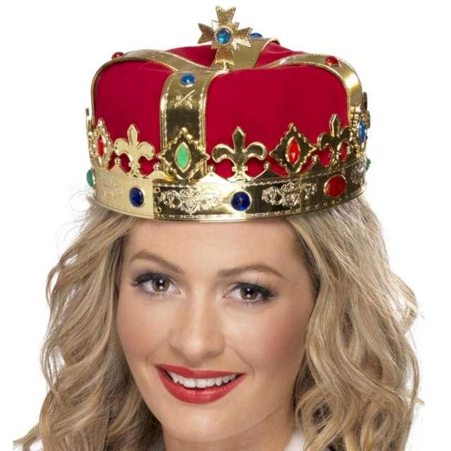 """Korona party """"Królewska"""", złoto-czerwona, Smiffys"""