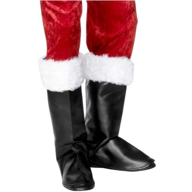 """Nakładki na buty """"Święty Mikołaj Deluxe"""", z futerkiem, Smiffys"""