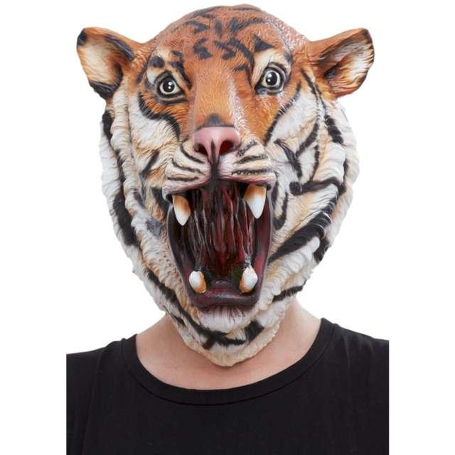 """Maska """"Tygrys"""", lateksowa, pomarańczowa, Smiffis"""