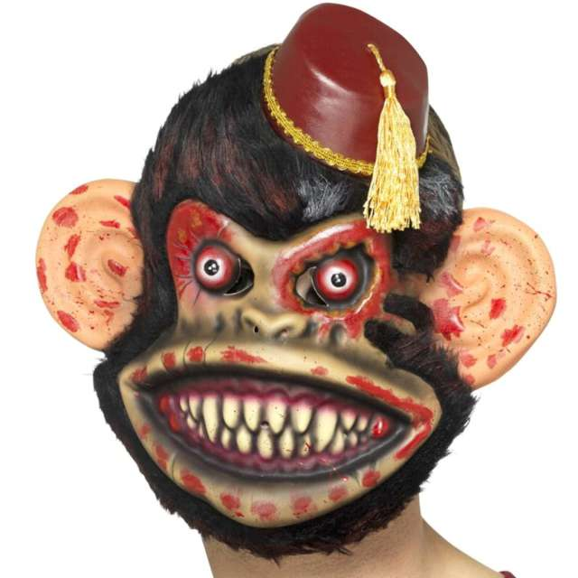 "Maska ""Małpa Zombi"", piankowa, czarna, Smiffis"