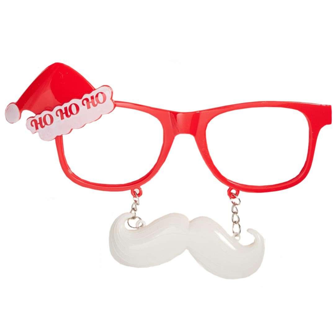 """Okulary party """"Świąteczne z wąsami"""", Carnival Toys"""