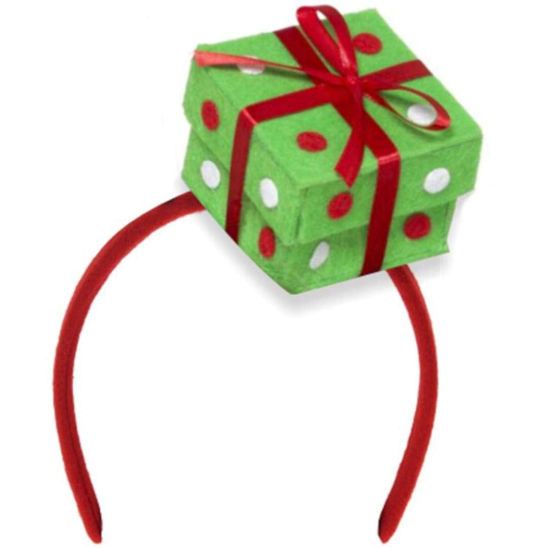 """Opaska party """"Czapeczka mini prezent"""", zielona, Smiffys"""
