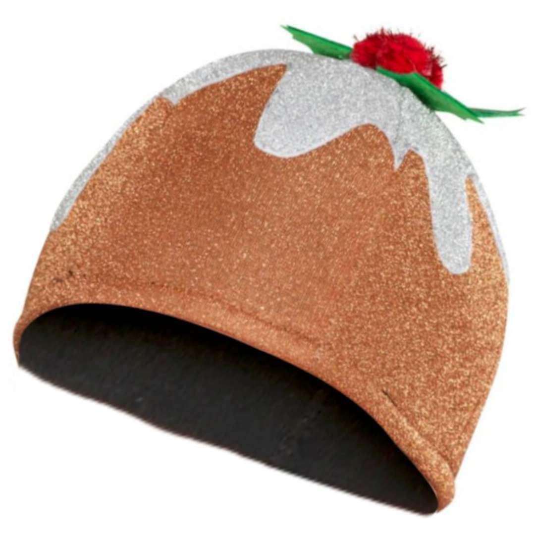 """Czapka """"Świąteczny pudding"""", brązowa, Smiffys"""