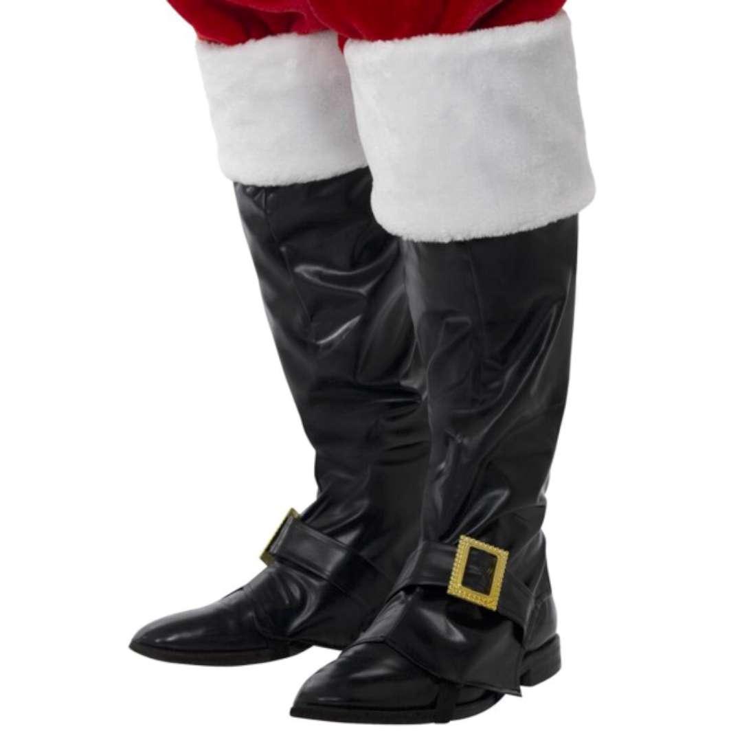 """Nakładki na buty """"Święty Mikołaj Deluxe"""", z futerkiem i klamrą, Smiffys"""