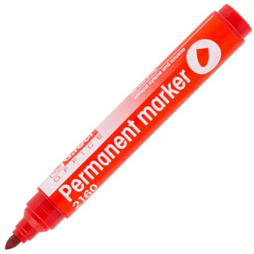 """Marker permanentny """"Okrągły 2160"""", czerwony, D.RECT, 1-3 mm"""