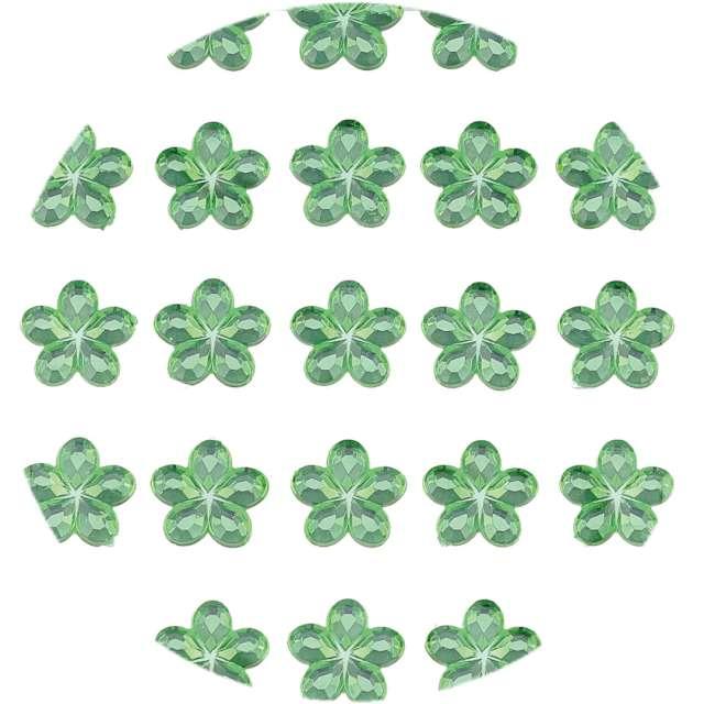 """Dżety samoprzylepne """"Kwiatki Kryształki"""", zielone, Brewis, 35 szt"""