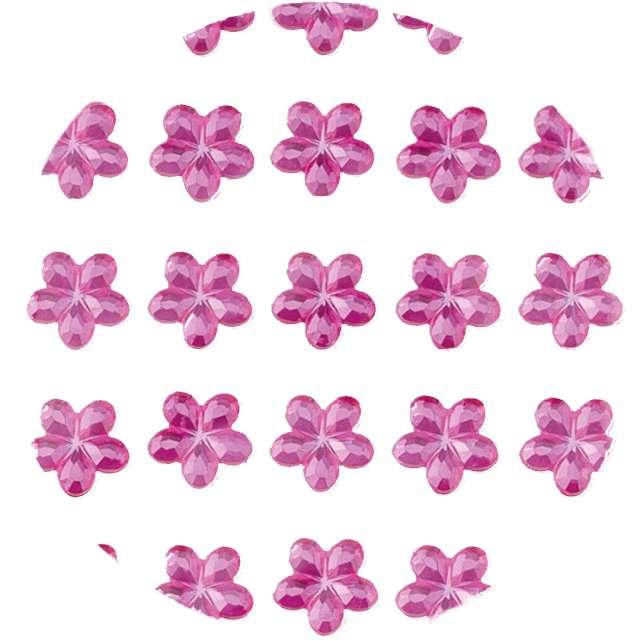 Dżety samoprzylepne Kwiatki Kryształki różowe Brewis 35 szt
