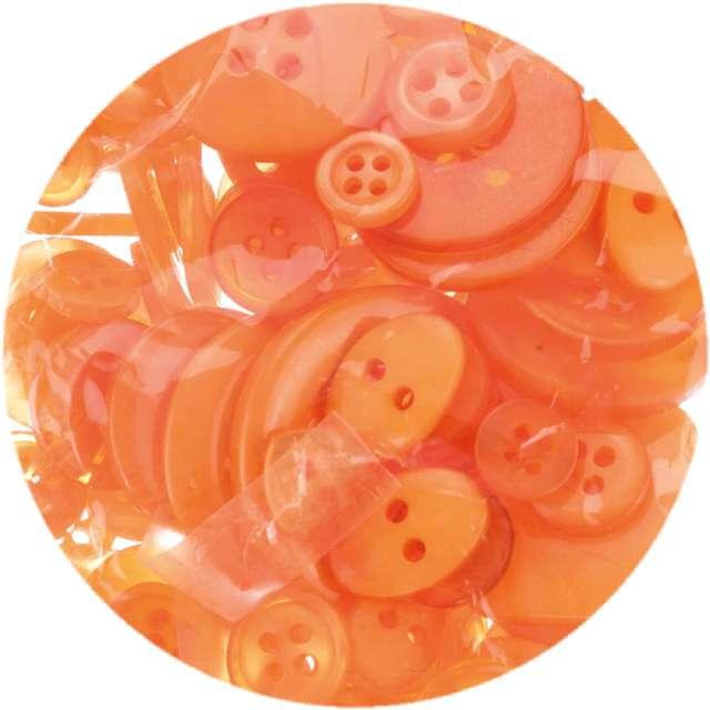 """Guziki """"Kreatywne"""", pomarańczowe, Brewis, 40g"""