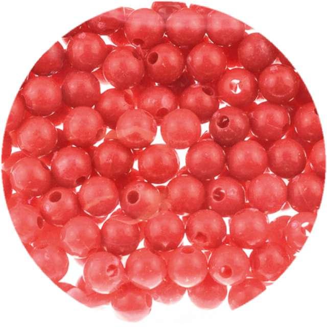 """Koraliki """"Classic"""", czerwone, Brewis, 6 mm, 16 g"""