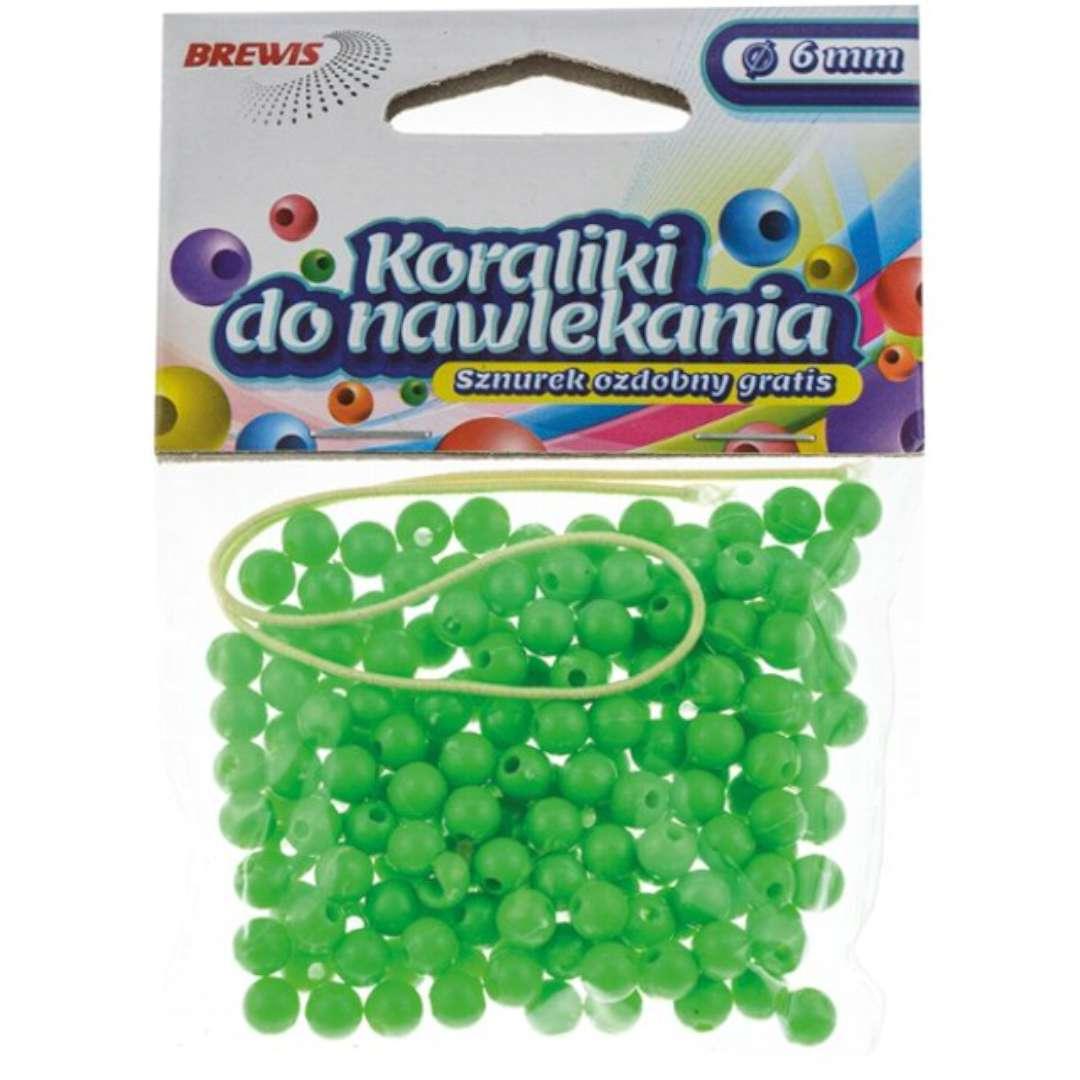 Koraliki Classic zielone Brewis 6 mm 16 g