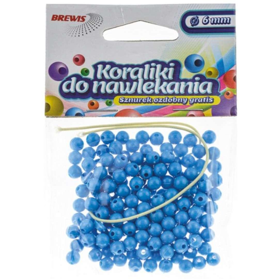 Koraliki Classic niebieskie Brewis 6 mm 16 g