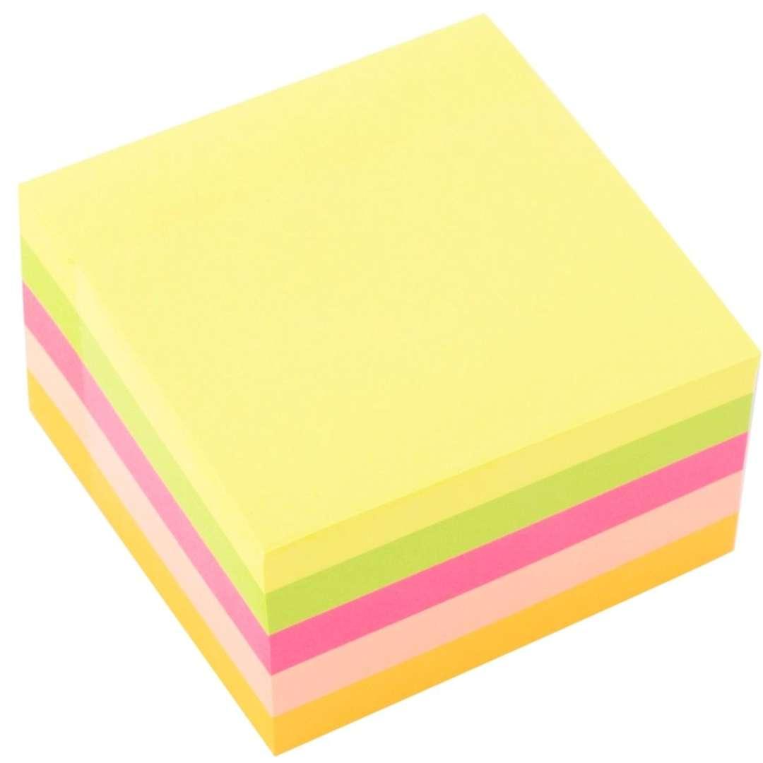 """Notes """"Karteczki samoprzylepne"""", 75x75 mm, neon mix, D.RECT"""
