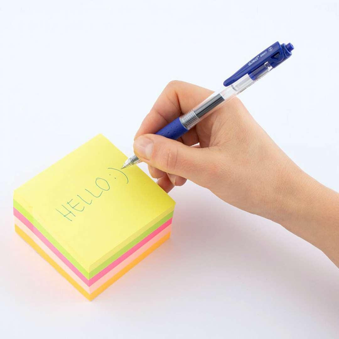 Notes Karteczki samoprzylepne 75x75 mm neon mix D.RECT