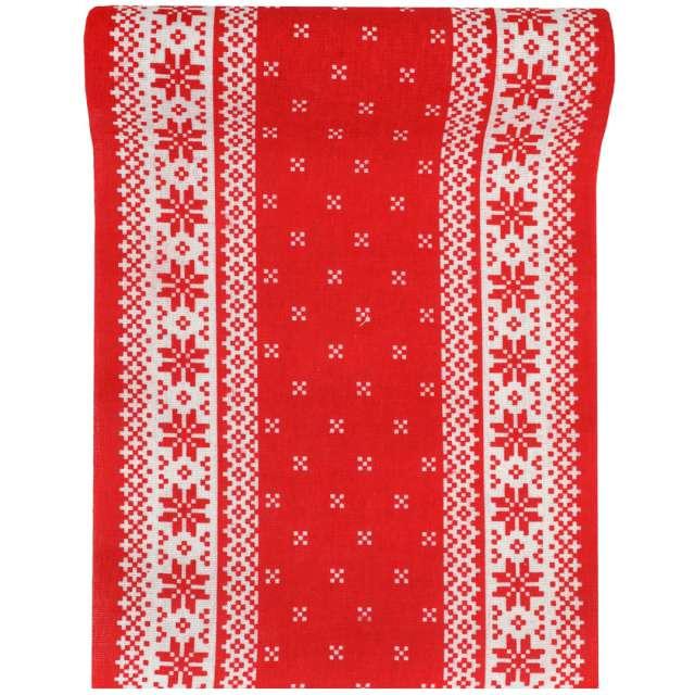 Bieżnik Świąteczny wzór czerwony Santex 300 x 28 cm