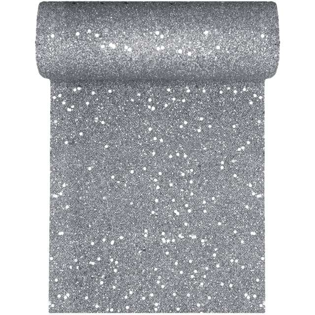Bieżnik Brokatowy srebrny Santex 500 x 18 cm